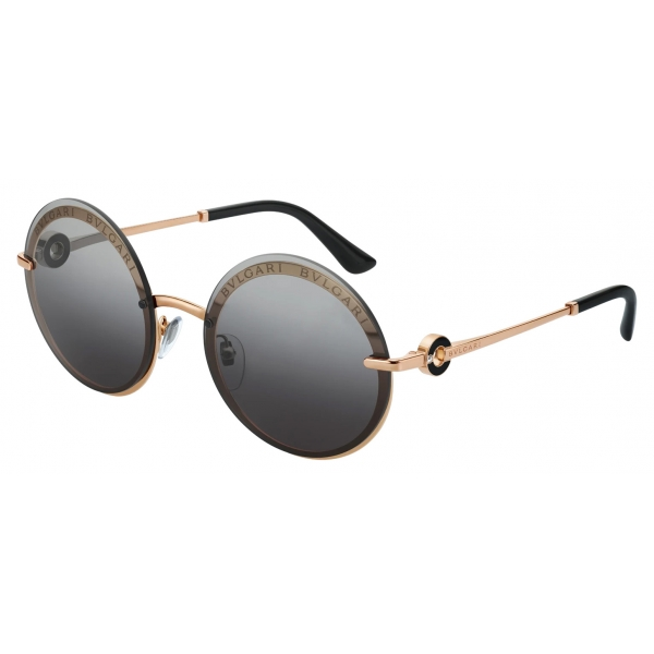 Bulgari - Bulgari Bulgari - Occhiali da Sole Rotondi On-Me - Bulgari Bulgari Collection - Occhiali da Sole - Bulgari Eyewear