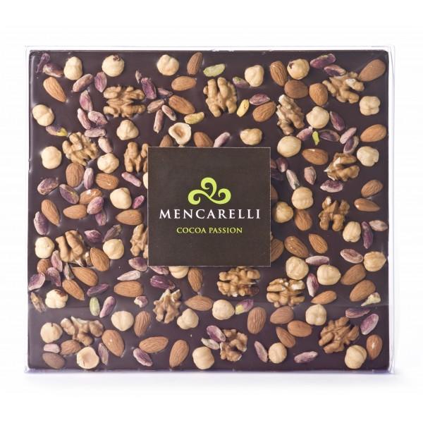 Mencarelli Cocoa Passion - Cioccolato Fondente e Mix di Frutta Secca - Tavoletta Cioccolato 500 g