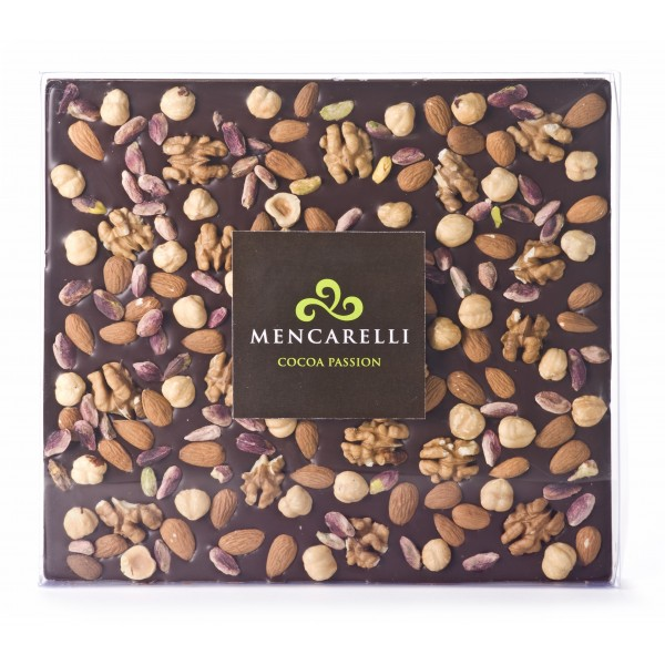 Mencarelli Cocoa Passion - Dark Chocolate Bar and Dried Fruit - Tablet Chocolate 500 g