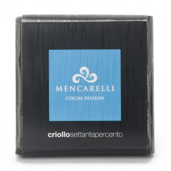 Mencarelli Cocoa Passion - Dark Chocolate Bar Criollo - Chocolate Bar 50 g