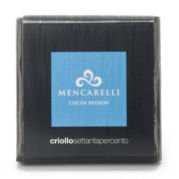 Mencarelli Cocoa Passion - Dark Chocolate Bar Criollo - Chocolate Bar 50 g