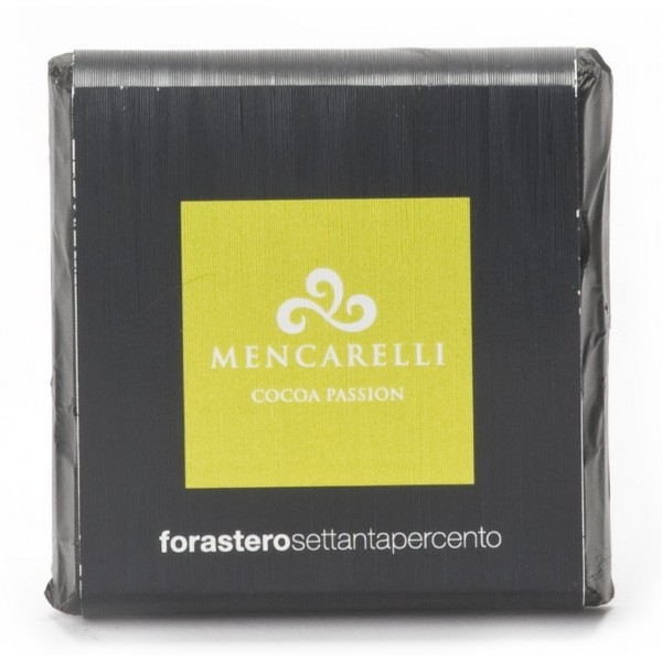 Mencarelli Cocoa Passion - Tavoletta Cioccolato Fondente Forastero - Tavoletta Cioccolato 50 g