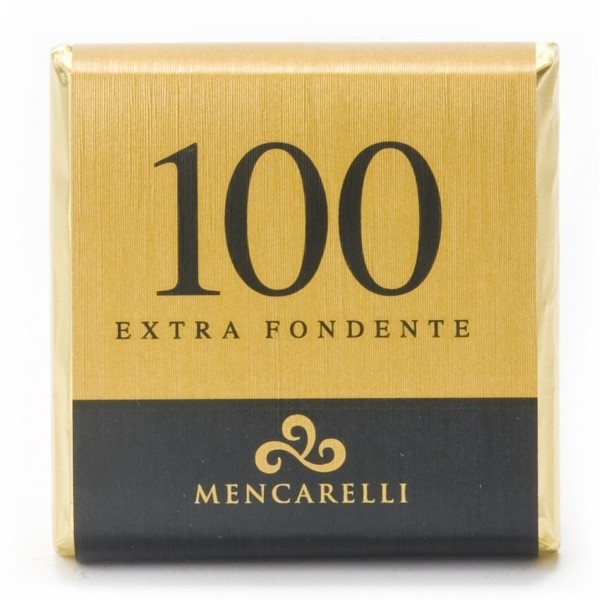 Mencarelli Cocoa Passion - Tavoletta Cioccolato Fondente 100 % - Tavoletta Cioccolato 50 g