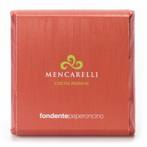 Mencarelli Cocoa Passion - Dark Chocolate Bar with Chilli Pepper - Chocolate Bar 50 g
