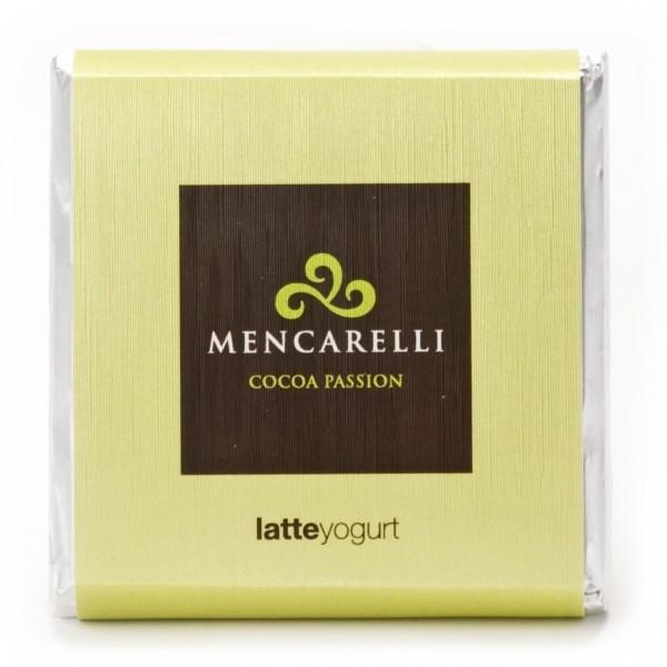 Mencarelli Cocoa Passion - Milk Chocolate Bar and Yogurt - Chocolate Bar 50 g