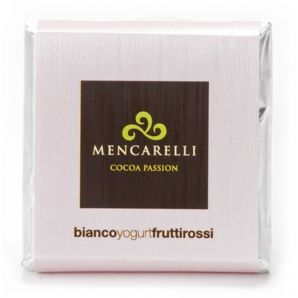 Mencarelli Cocoa Passion - White Chocolate Bar with Yogurt and Red Fruits - Chocolate Bar 50 g