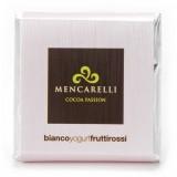 Mencarelli Cocoa Passion - Tavoletta Cioccolato Bianco allo Yogurt e Frutti Rossi - Tavoletta Cioccolato 50 g