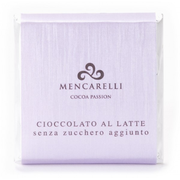 Mencarelli Cocoa Passion - Milk Chocolate Bar Sugar Free - Chocolate Bar 50 g