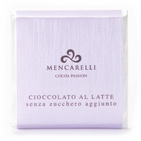 Mencarelli Cocoa Passion - Tavoletta Cioccolato al Latte Senza Zucchero - Tavoletta Cioccolato 50 g