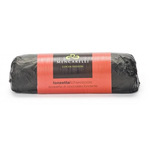 Mencarelli Cocoa Passion - Lonza di Fico e Visciole Ricoperta di Cioccolato Fondente 150 g