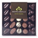 Mencarelli Cocoa Passion - Scatola Trasparente 25 Praline Assortite - Cioccolatini Artigianali 250 g