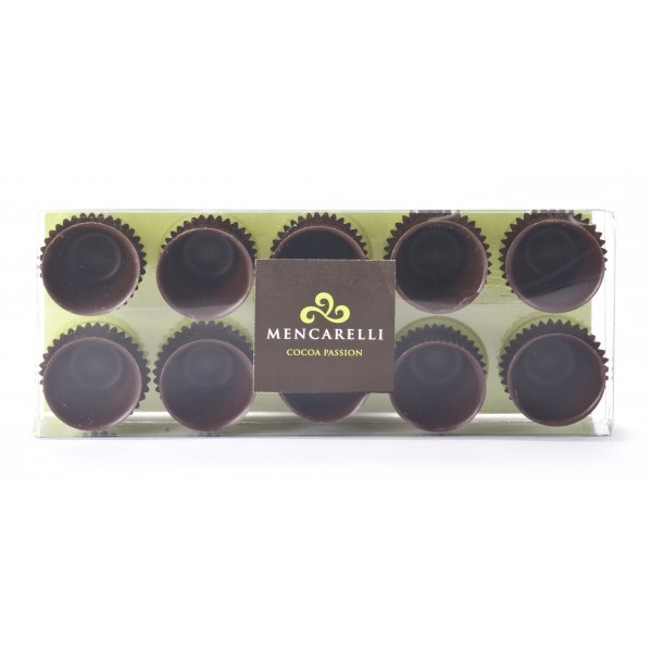 Mencarelli Cocoa Passion - Scatola 10 Bicchierini di Cioccolato Fondente - Cioccolatini Artigianali 80 g