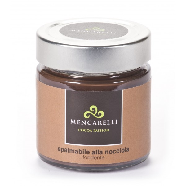 Mencarelli Cocoa Passion - Dark Spreadable Cream with Hazelnut - Artisan Cream 200 g