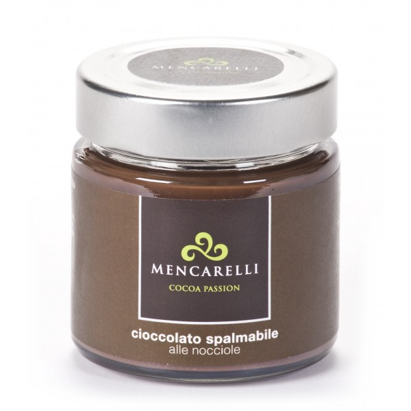 Mencarelli Cocoa Passion - Spreadable Cream with Hazelnut - Artisan Cream 200 g