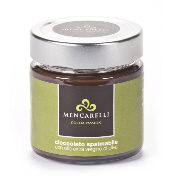 Mencarelli Cocoa Passion - Spreadable Cream with Olive Oil - Artisan Cream 200 g