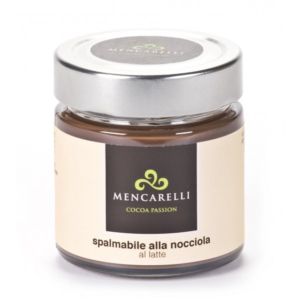 Mencarelli Cocoa Passion - Milk Spreadable Cream with Hazelnut - Artisan Cream 200 g