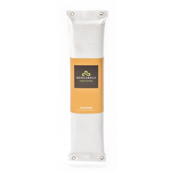Mencarelli Cocoa Passion - Nougat with Hazelnut and Spelt Blown - Artisan Chocolate 200 g