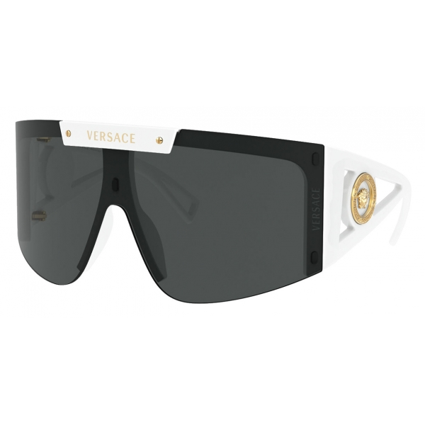 Versace - Occhiale da Sole Shield Medusa Icon - Bianco - Occhiali da Sole - Versace Eyewear