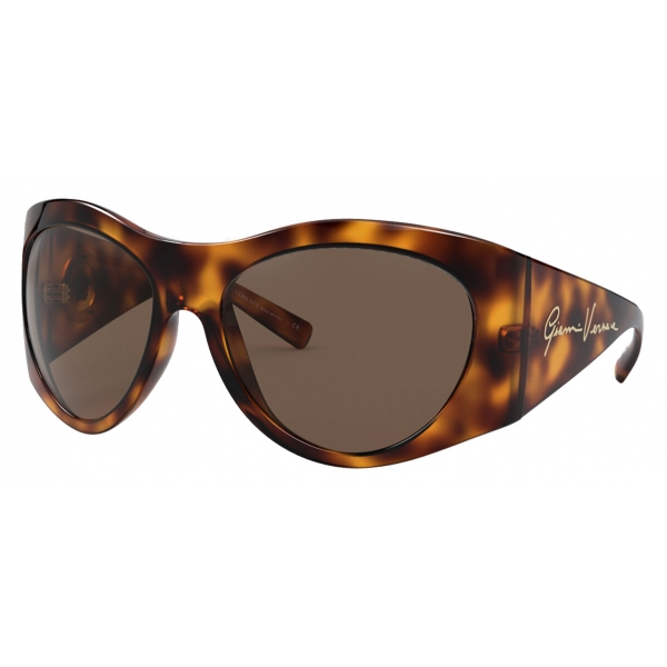 Versace - Sunglasses GV Signature Round - Havana - Sunglasses - Versace Eyewear