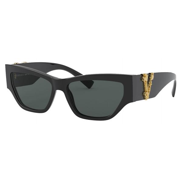 Versace - Sunglasses Versace Virtus Cat Eye - Black - Sunglasses - Versace Eyewear