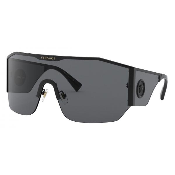 Versace - Sunglasses Medusa Halo Shield - Black - Sunglasses - Versace Eyewear