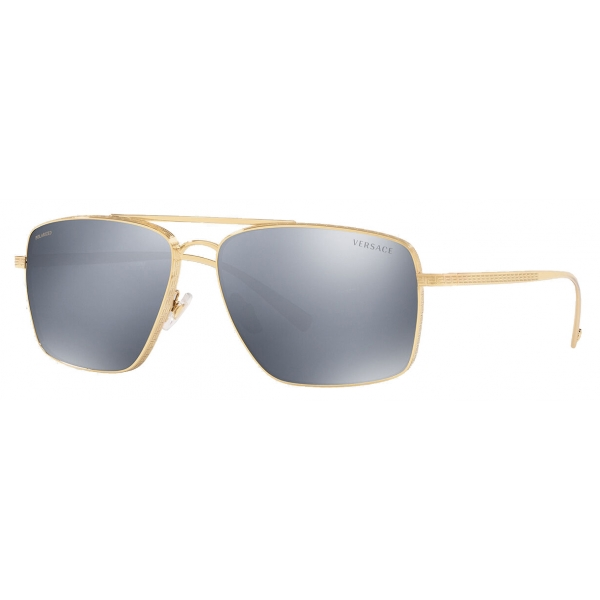 Versace - Sunglasses Greca Square Polarized - Gold - Sunglasses - Versace Eyewear