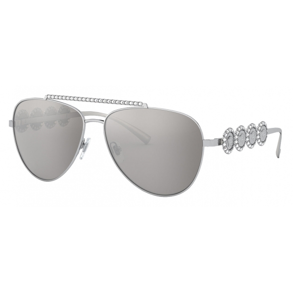 Versace - Sunglasses Signature Medusa Pilot - Silver - Sunglasses - Versace Eyewear