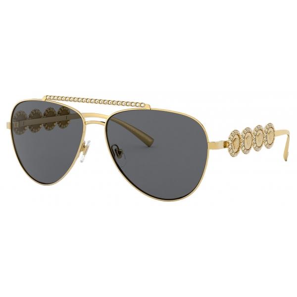 Versace - Sunglasses Signature Medusa Pilot - Gold - Sunglasses - Versace Eyewear