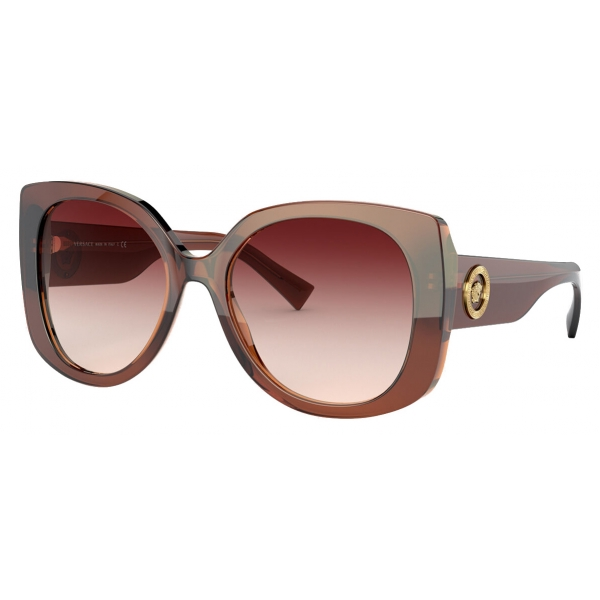 Versace - Sunglasses Medusa Icon Squared - Brown - Sunglasses - Versace Eyewear