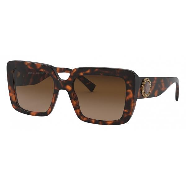 Versace - Sunglasses Medusa Crystal Jewel - Havana - Sunglasses - Versace Eyewear