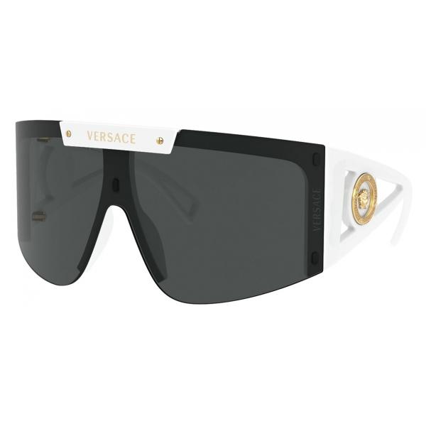 Versace - Sunglasses Medusa Icon Shield - White - Sunglasses - Versace Eyewear