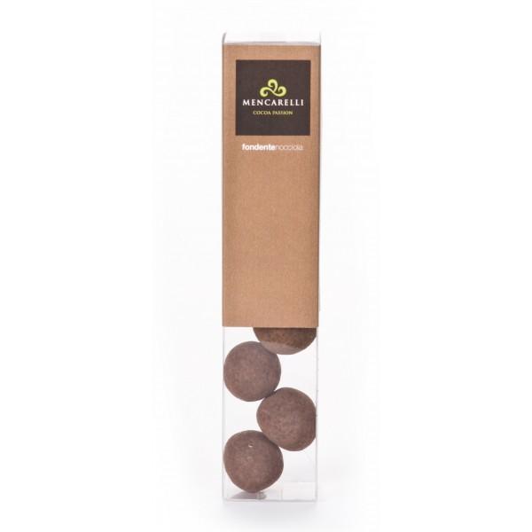Mencarelli Cocoa Passion - Hazelnut Dragee with Dark Chocolate - Artisan Chocolate 50 g