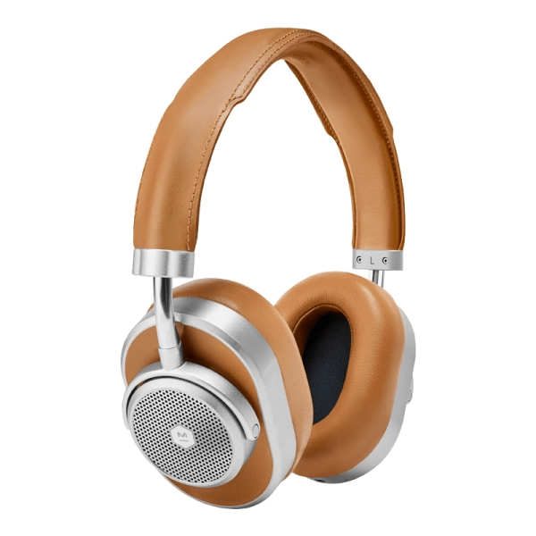 Master & Dynamic - MW65 - Away - Silver Metal / Tan Leather - ANC Wireless Headphones - Premium Quality