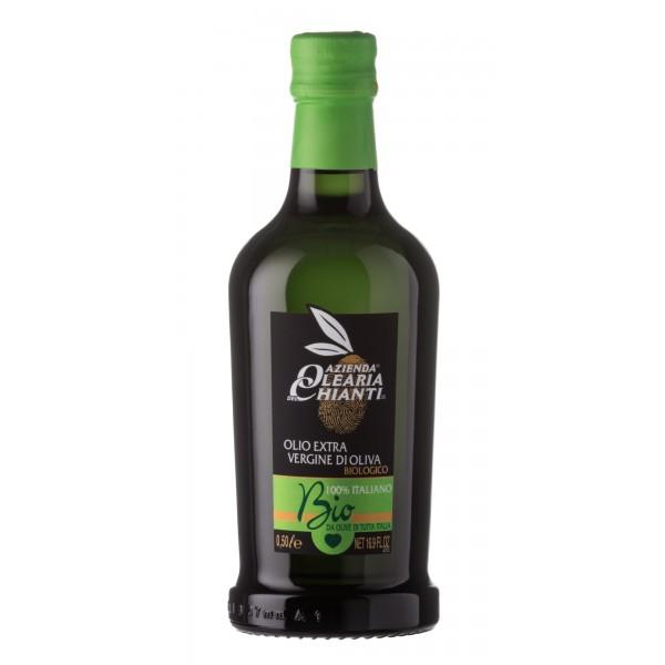 Azienda Olearia del Chianti - 12 bt - Olio Extravergine di Oliva Filtrato Italiano Biologico - 500 ml