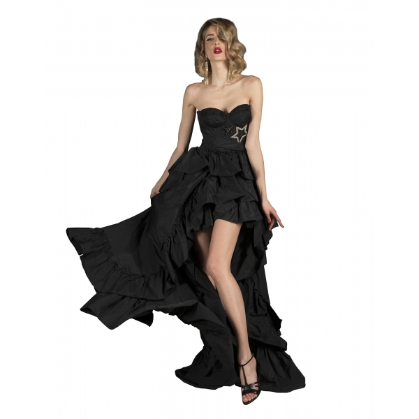 Danilo Forestieri - Long Bustier Maxi Dress in Taffeta - Dress - Haute Couture Made in Italy - Luxury Exclusive Collection