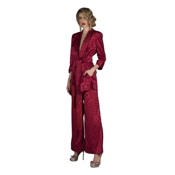 Danilo Forestieri - Maxi Giaxxa con Cintura e Frange - Haute Couture Made in Italy - Luxury Exclusive Collection