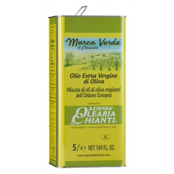 Azienda Olearia del Chianti - Extravirgin Olive Oil Filtered European Comunity - E.U. - 5 l