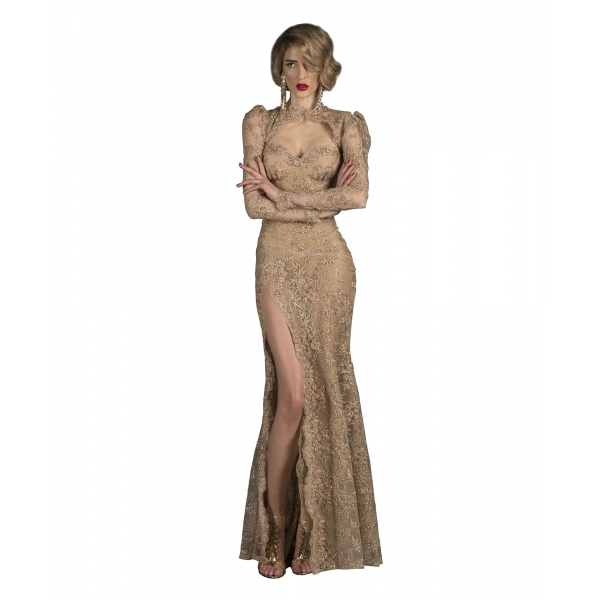 Danilo Forestieri - Coprispalle in Tulle Ricamato - Haute Couture Made in Italy - Luxury Exclusive Collection
