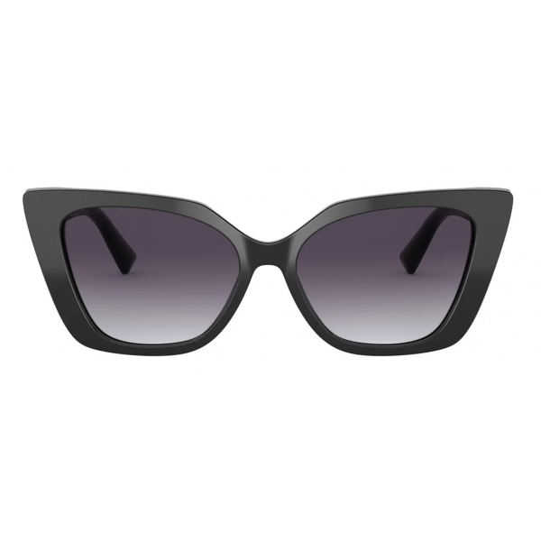 Valentino - Occhiale da Sole Cat-Eye in Acetato Vlogo - Nero Grigio - Valentino Eyewear