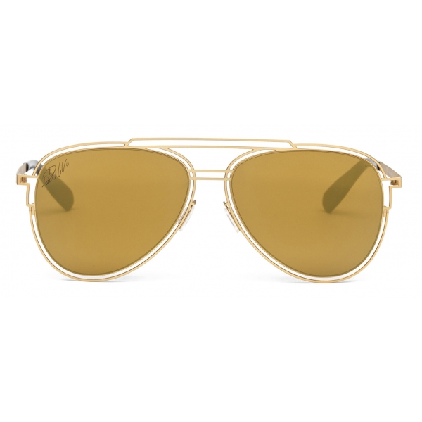 CR7 - Cristiano Ronaldo - GS001 - Semiglossy Gold Frame - Sunglasses - Exclusive Official Collection - CR7 Eyewear