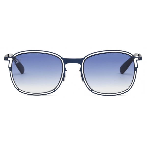 CR7 - Cristiano Ronaldo - GS002 - Semiglossy Dark Blue Frame - Sunglasses - Exclusive Official Collection - CR7 Eyewear
