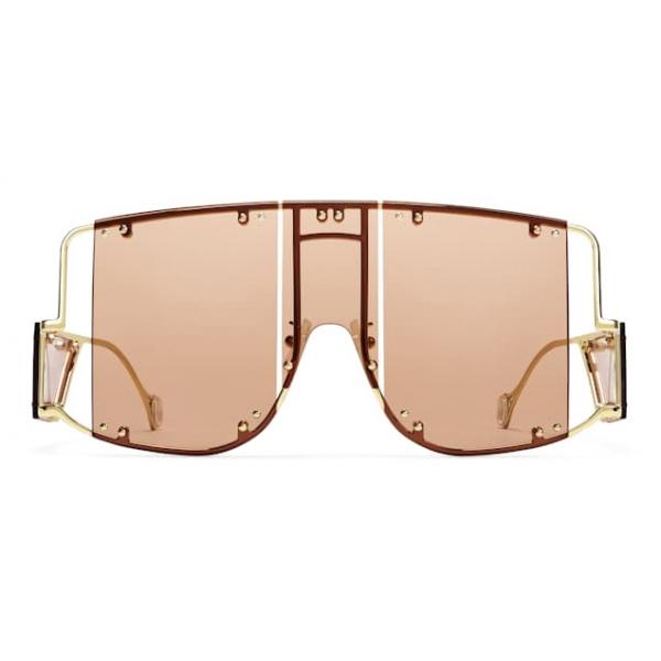 Fenty - Blockt Mask - Terra Cotta - Occhiali da Sole - Rihanna Official - Fenty Eyewear