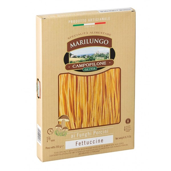 Pasta Marilungo - Fettuccine at Porcini Mushrooms - Food Specialties - Pasta of Campofilone