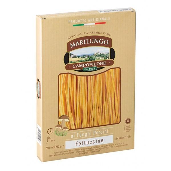 Pasta Marilungo - Fettuccine at Porcini Mushrooms - Food Specialties - Pasta of Campofilone