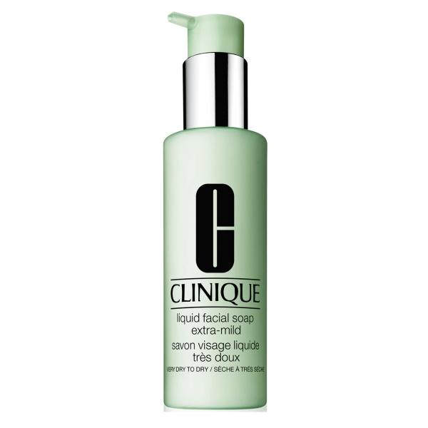 Clinique - Liquid Facial Soap - Detergente Viso - Molto Secco per Asciugare 200 ml - Luxury