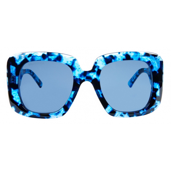 Balenciaga - Blow Square Sunglasses - Blue Havana - Sunglasses - Balenciaga Eyewear