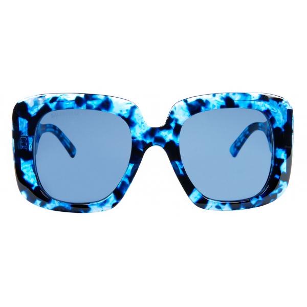 Balenciaga - Occhiali da Sole Blow Square - Blu Havana - Occhiali da Sole - Balenciaga Eyewear