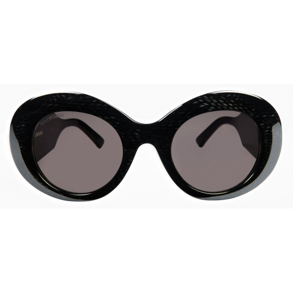 Balenciaga - Blow Round Sunglasses - Black - Sunglasses - Balenciaga Eyewear