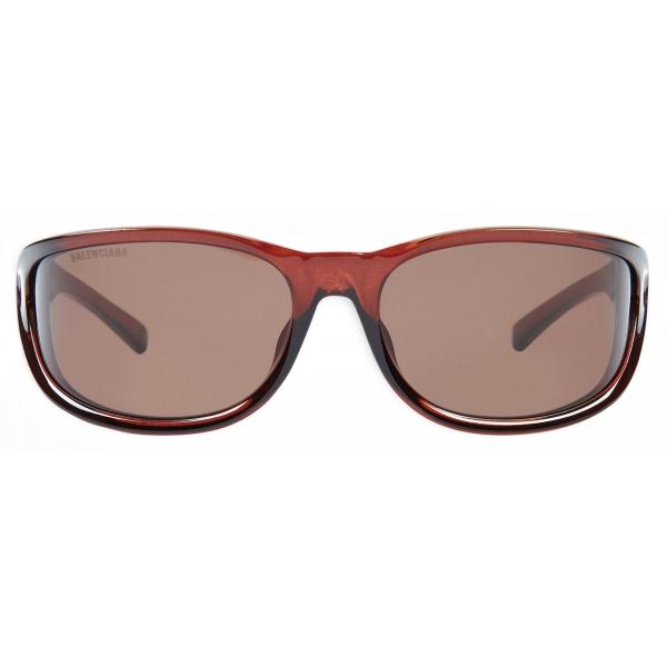 Balenciaga - Occhiali da Sole Fast Rectangle - Marrone - Occhiali da Sole - Balenciaga Eyewear