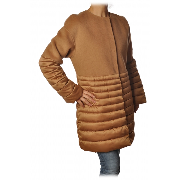 Elisabetta Franchi - Chanel Coat - Caramel - Jacket - Made in Italy - Luxury Exclusive Collection